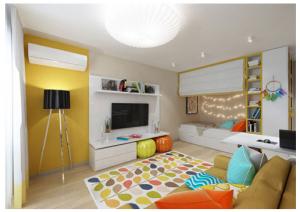 Thiết kế căn hộ tiện nghi dù diện tích dưới 30 m2