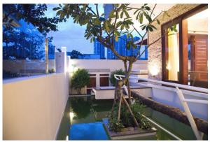 Biệt thự được thiết kế với hồ cá trong nhà