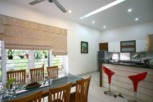 Biệt thự ở Nam Từ Liêm Hà Nội được cải tạo có không gian giản dị