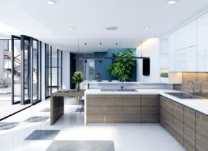Thiết kế căn bếp tràn ngập ánh sáng