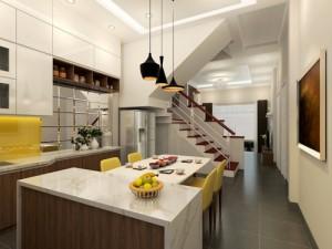 Thiết kế khu bếp thông thoáng trong nhà nhỏ ở Hà Nội