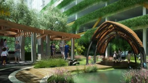 Thiết kế chung cư khác biệt nhờ mảng xanh