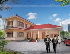 Biệt thự 2 tầng mái thái nhà a Hùng – Vĩnh Phúc