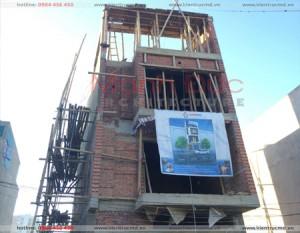 Những hình ảnh thi công công trình nhà 3.5 tầng – Ven sông Hạc – Tp. Thanh Hoá