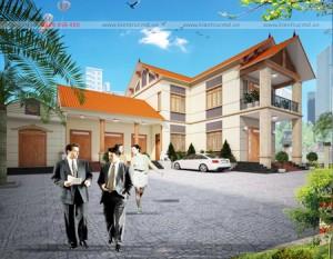 Biệt thự 2 tầng mái thái nhà a Tuân – Vĩnh Phúc