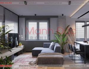 Thiết kế nội thất chung cư Discovery Cầu Giấy – Chị Lan Anh