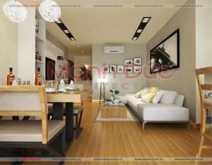 Thiết kế căn hộ chung cư Home city căn 90m2  – A. Tuấn Anh