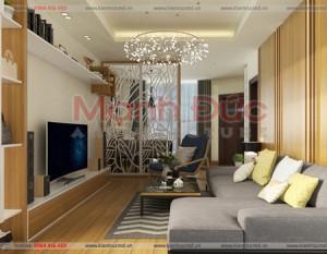 Thiết kế căn hộ chung cư Home city căn 70m2 – A. Tuấn Anh