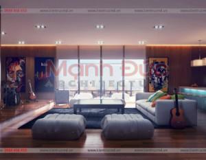 Phòng khách có nội thất sang trọng thể hiện đẳng cấp người dùng