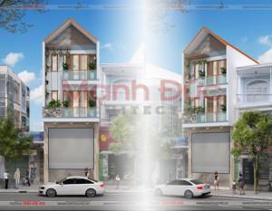 Kiến trúc nhà phố 3 tầng có mái – A. Quân – Phố Nối A – TP. Hưng Yên